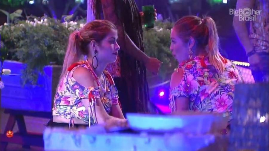 Jéssica e Jaqueline falam sobre proximidade entre Wagner e Gleici - Reprodução/GloboPlay