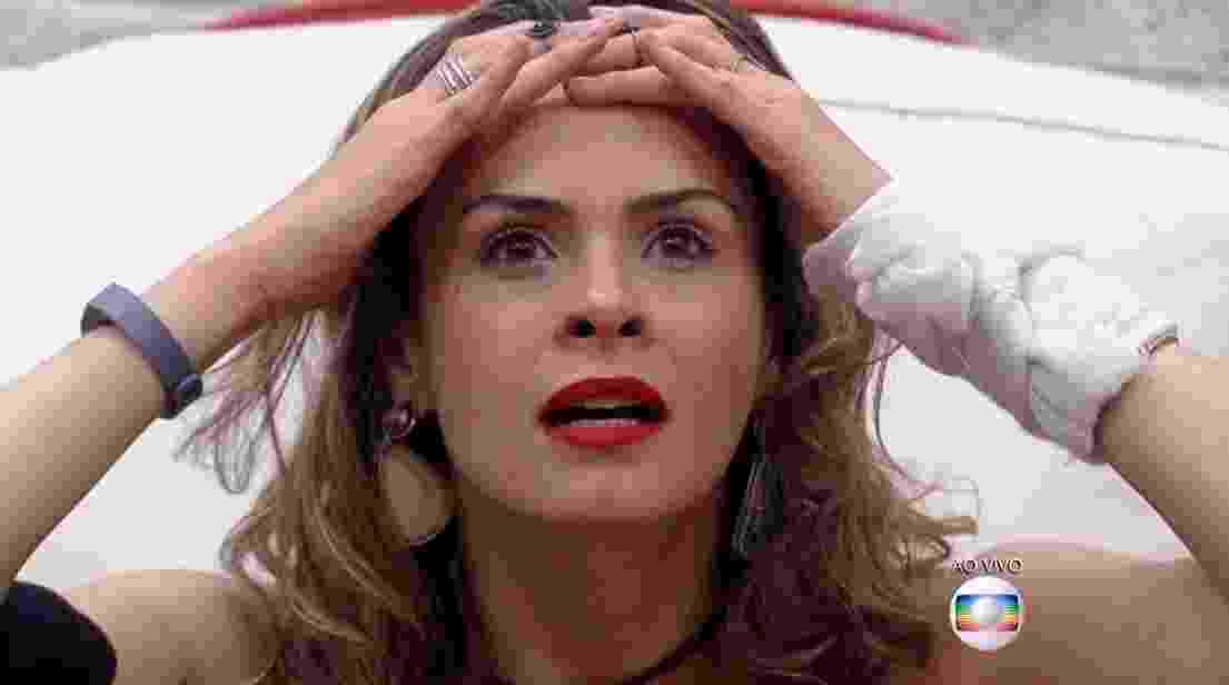 """9.fev.16 - Ana Paula se surpreende ao saber que não está eliminada do """"BBB16"""" - Reprodução/ TV Globo"""