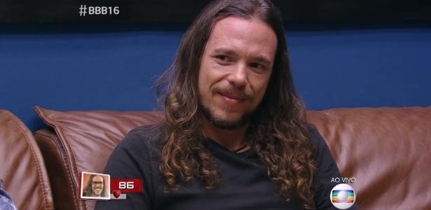 """Com seis pontos, Tamiel foi o sexto participante a deixar o """"BBB16"""" - Reprodução/TV Globo"""