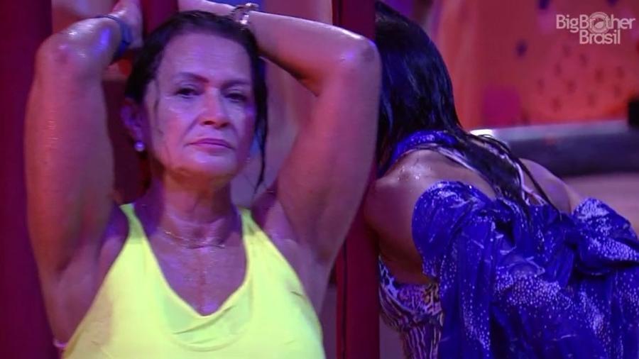 Ieda durante a prova de resistência desta quinta (23) - Reprodução/TV Globo