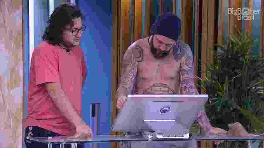 Diego e Caruso fazem as compras da semana - Reprodução/GloboPlay