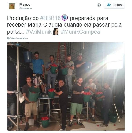 5.abr.2015 - Internautas ironizam o segundo lugar de Maria Claudia