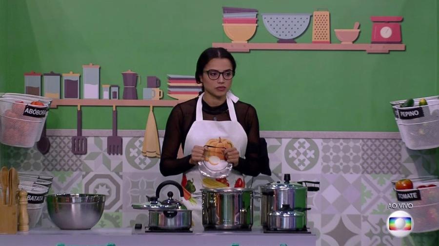 Paula participa da décima terceira prova do líder - Reprodução/TvGlobo