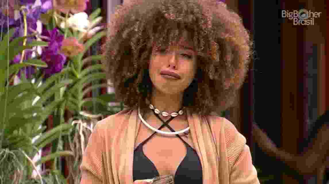 Gabriela chora ao ser indicada ao paredão - Reprodução/TV Globo