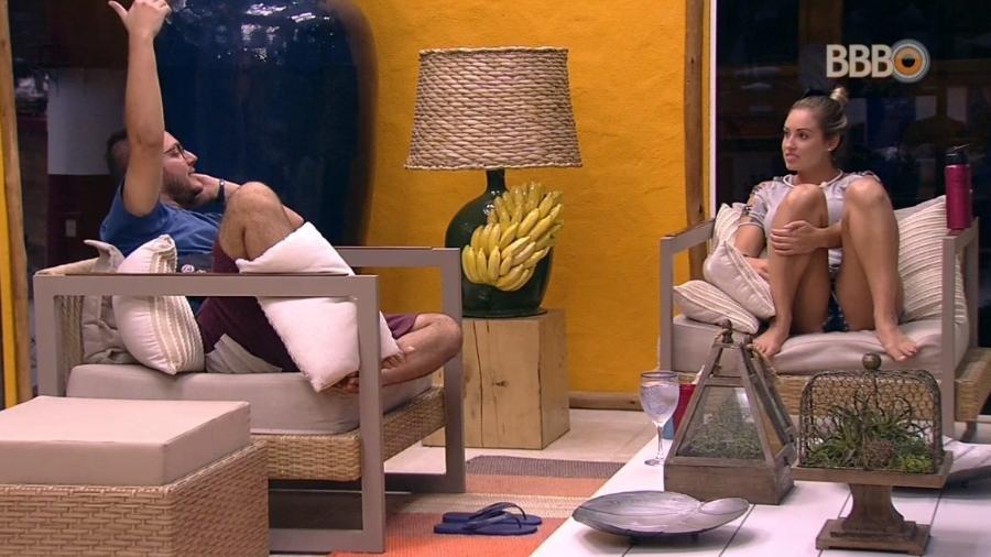 Diego conversa com Jéssica - Reprodução/Globoplay