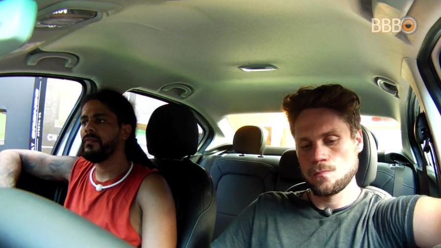 Viegas e Breno participam da décima prova do líder - Reprodução/GloboPlay