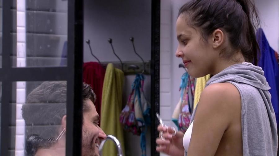 Emilly e Marcos criticam Ieda - Reprodução/TV Globo