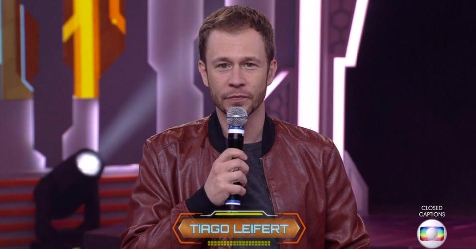 Tiago Leifert conversa com o público do