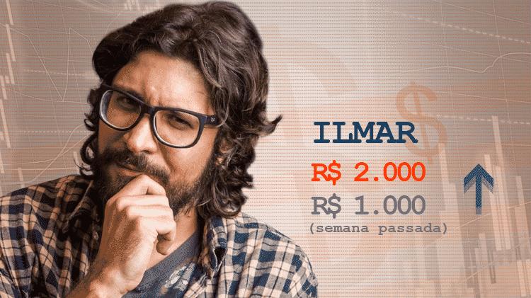 Cotação semana 2 BBB17 Ilmar - Divulgação/TV Globo e Arte/UOL - Divulgação/TV Globo e Arte/UOL