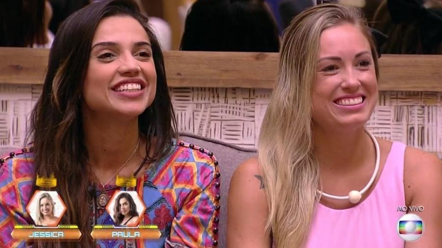 Paula e Jéssica no ao vivo - Reprodução/Globoplay