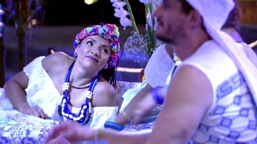 """Marinalva compara Emilly e Vivian, durante festa no """"BBB17"""" - Reprodução/ TV Globo"""