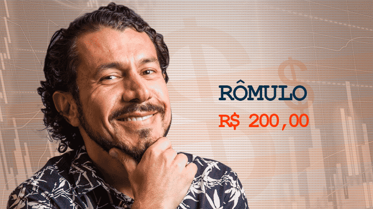 Cotação Semana 1 BBB17 Rômulo - Divulgação/TV Globo e Arte/UOL - Divulgação/TV Globo e Arte/UOL