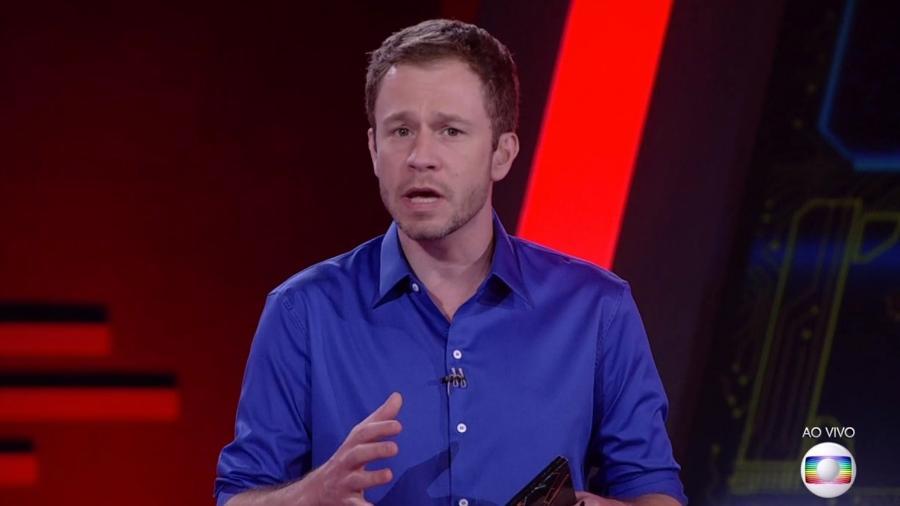 Tiago Leifert dá mais detalhes sobre a décima prova do líder - Reprodução/TvGlobo