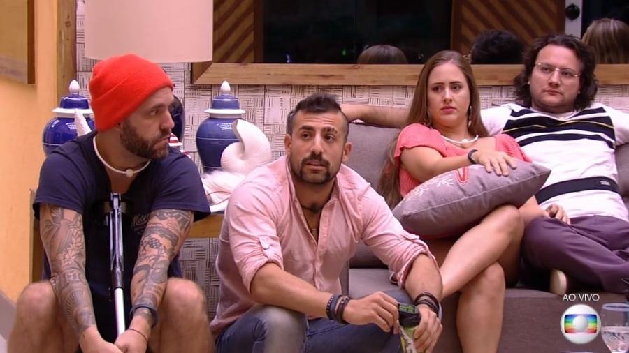 Patrícia, Diego e Caruso defendem permanência na casa - Reprodução/Gshow