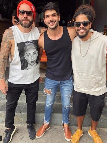 Caruso, Lucas e Viegas se reúnem fora da casa  - Reprodução/Instagram