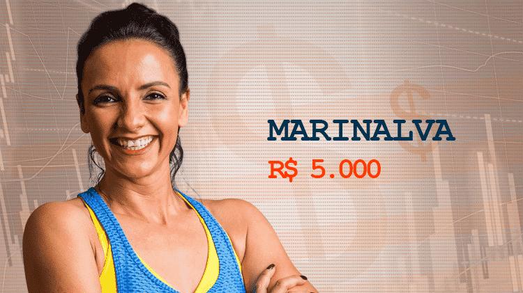 Cotação Semana 1 BBB17 Marinalva - Divulgação/TV Globo e Arte/UOL - Divulgação/TV Globo e Arte/UOL