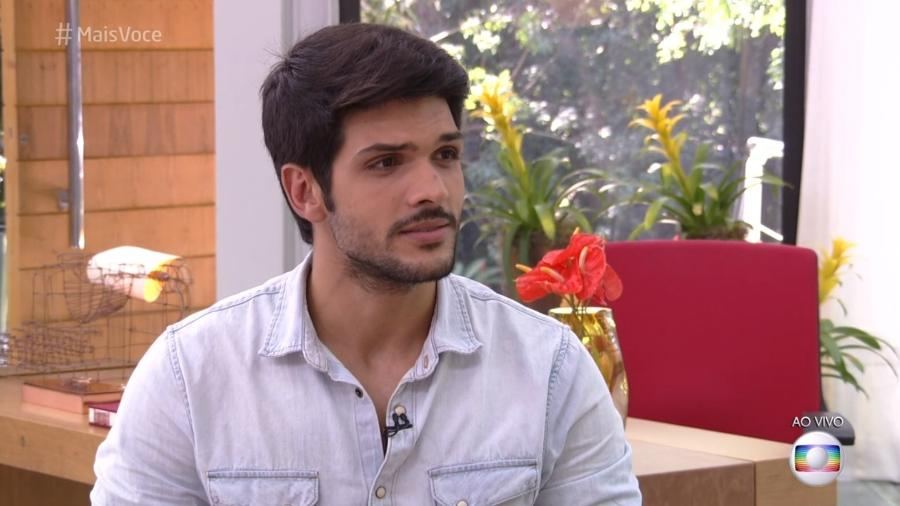 """Ex-BBB Lucas no """"Mais Você"""" - Reprodução/Globo"""