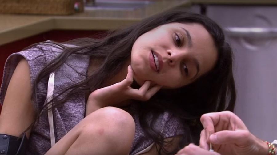 Emilly acredita que paredão vai rolar neste domingo - Reprodução/TV Globo
