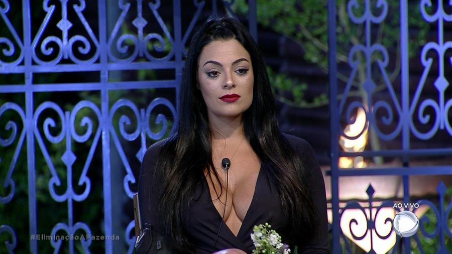 """Monique Amin aguarda o resultado da décima roça de """"A Fazenda 9"""" - Reprodução/Record"""