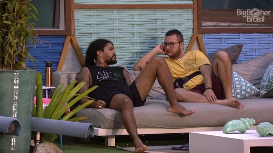Viegas e Diego conversam sobre os rumos do jogo - Reprodução/GloboPlay