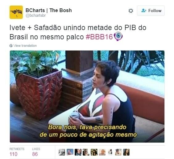 5.abr.2016 - Shows de Ivete e Wesley Safadão também foram comentados