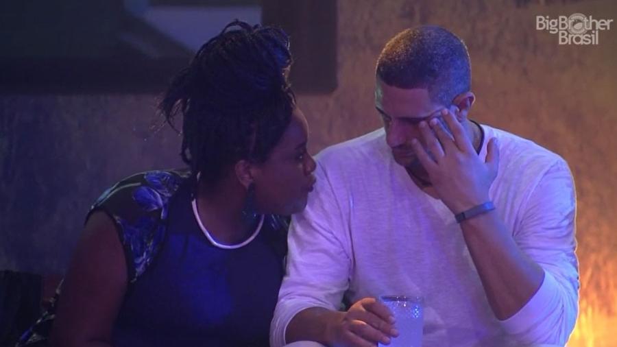 Roberta e Daniel falam sobre paredão - Reprodução/TV Globo