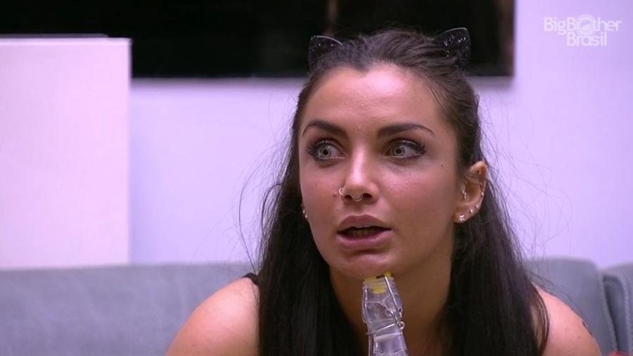 Elettra fica ansiosa para saber resultado do paredão  - Reprodução/TV Globo