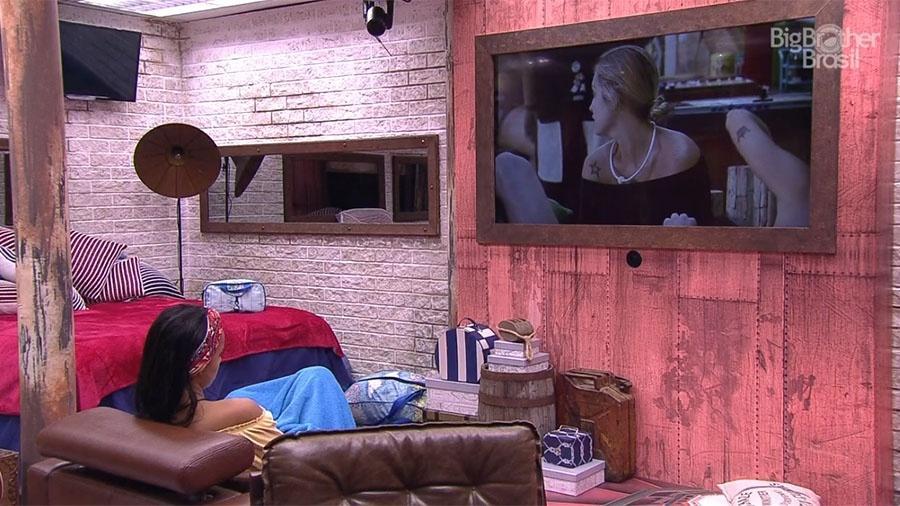 Gleici observa e critica Jéssica no quarto farol - Reprodução/GloboPlay