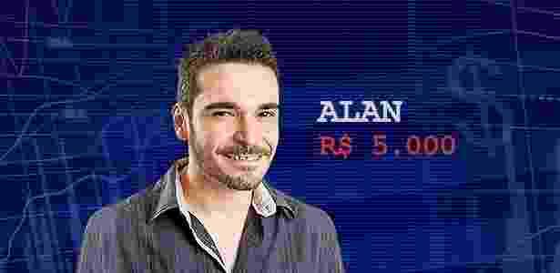 Cotação final  alan - Divulgação/TV Globo e Arte/UOL - Divulgação/TV Globo e Arte/UOL