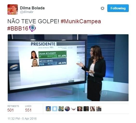 5.abr.2016 - Dilma e Aécio também foram lembrados nos memes da final