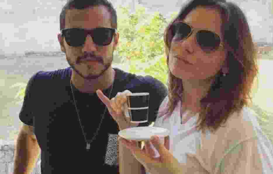5.abr.2016 - Matheus com Monica Iozze no Projac da TV Globo - Reprodução/Instagram @uaimatheus