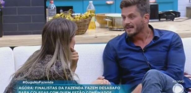 Marcos e Flávia falam sobre rivalidade no reality