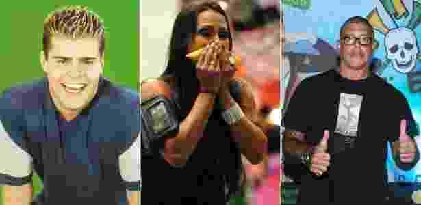 Rafael Vannucci, Kelly Medeiros e Alexandre Frota participaram de dois reality shows - Montagem/Divulgação/SBT/TV Globo/Photo Rio News