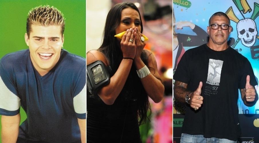 Rafael Vannucci, Kelly Medeiros e Alexandre Frota participaram de dois reality shows