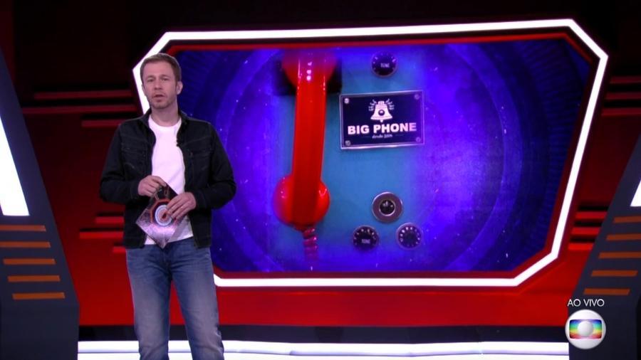 """Tiago Leifert anuncia quando Big Fone vai tocar no """"BBB18"""" - Reprodução/Gshow"""