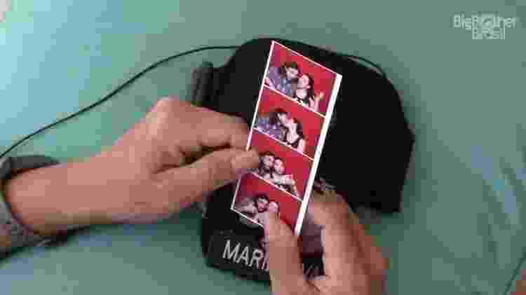 Pedro mostra foto da namorada - Reprodução/Tv Globo - Reprodução/Tv Globo