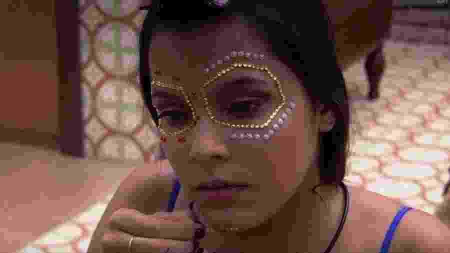 Emilly se maquia de La Catrina para festa mexicana - Reprodução/TV Globo