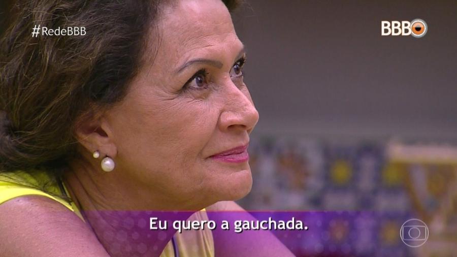 Ieda afirma que quer final apenas entre gaúchos - Reprodução/TV Globo