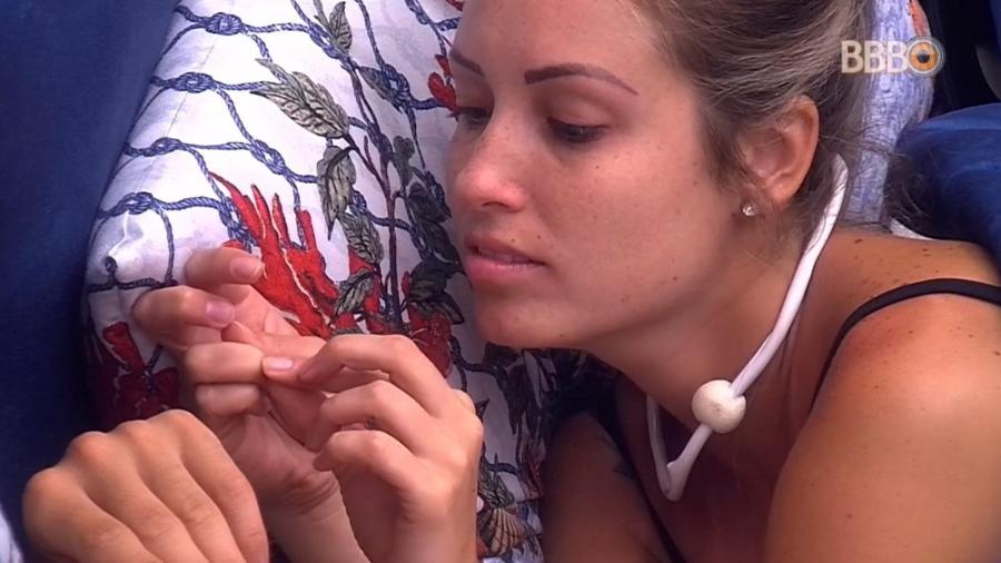 Jéssica conversa com Kaysar sobre paredão - Reprodução/Globoplay