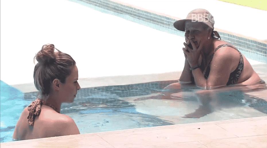 """5.fev.2016 - No """"BBB16"""", """"Ele se sente ameaçado por nós"""", diz Geralda para Ana Paula sobre Daniel - Reprodução/TV Globo"""