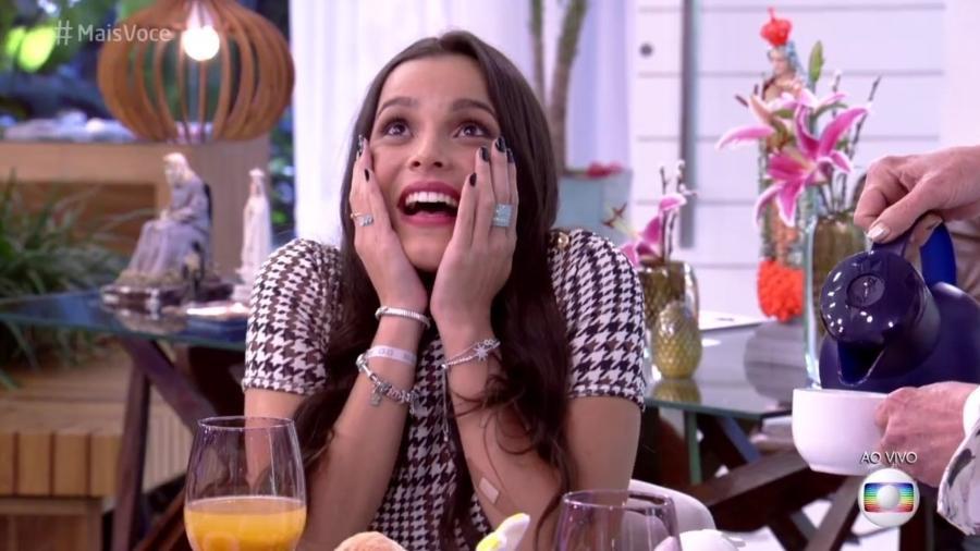 Emilly se emociona  - Reprodução/ TV Globo
