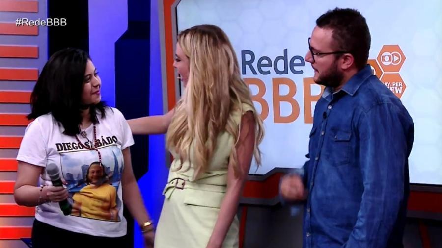 Diego conversa com a apresentadora Fernanda Keulla após eliminação  - Reprodução/Gshow