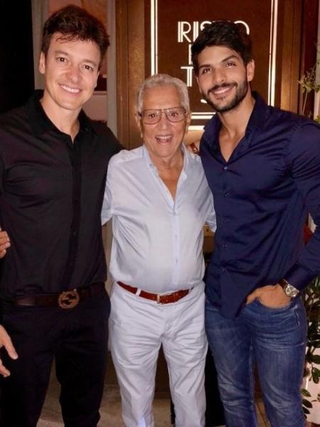 Rodrigo Faro, Carlos Alberto de Nóbrega e Lucas jantaram juntos - Reprodução/Instagram