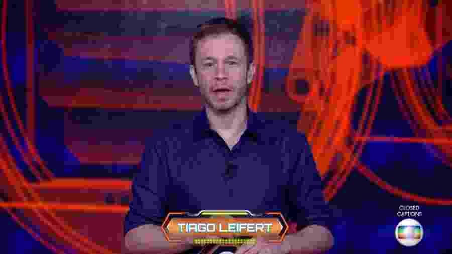 """Tiago Leifert, apresentador do """"BBB18"""" - Reprodução/TvGlobo"""