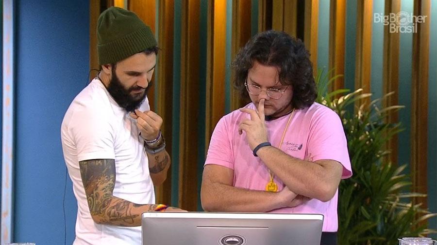 """Diego e Wagner fazem compras no """"BBB18"""" - Reprodução/GloboPlay"""
