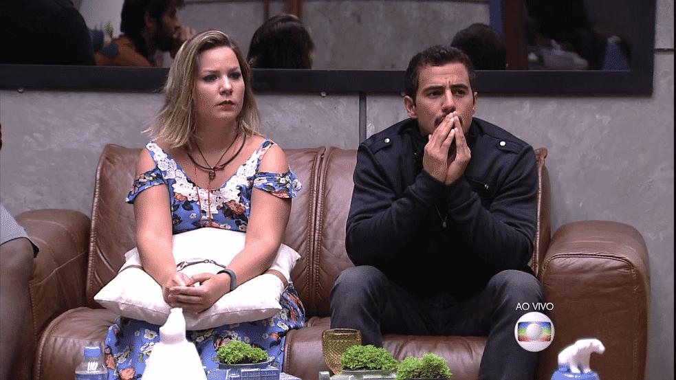 """6.mar.2016 - Ao ouvir """"superpoder"""" do anjo, Matheus se assusta com a possibilidade de ver Ana Paula de volta ao """"BBB16"""" - Reprodução/TV Globo"""