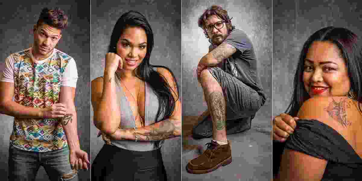 "As tatuagens do participantes do ""BBB17"" - Paulo Belote/Globo"
