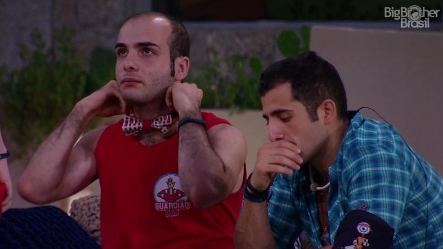 Mahmoud se revolta com votos dos brothers - Reprodução/Globoplay