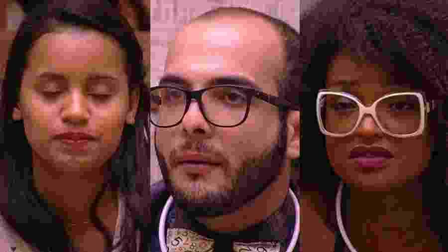 """Gleici, Mahmoud e Nayara formam o quarto paredão do """"BBB18"""" - Montagem/TvGlobo"""