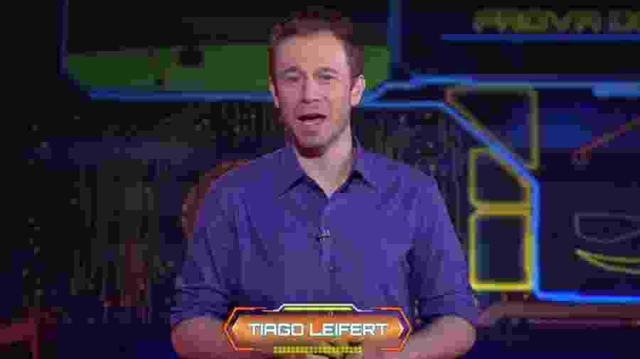 Tiago Leifert explica como será a quinta prova do líder  - Reprodução/TvGlobo